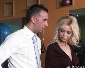 Barbi shoots corporate porn