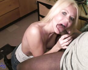 Milf goes to college for young BBC