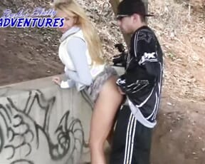 Barbi gets lucky with voyeur